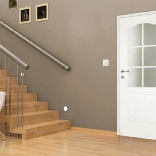 Интериорна врата Фортис - Бяла Остъклена
