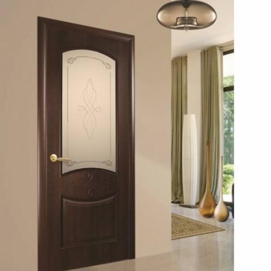 Интериорна врата Дона - Кестен Остъклена1